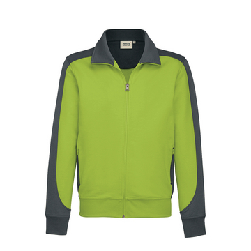 Sweat-Shirt-Jacke Performance, kiwi, Gr.4XL