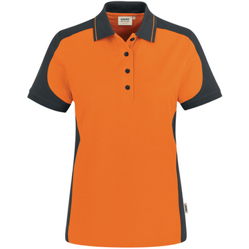 Damen Polo-Shirt Performance, orange, Gr. 6XL