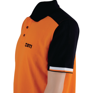 BTI Polo_Shirt_He.Orange Ärmel