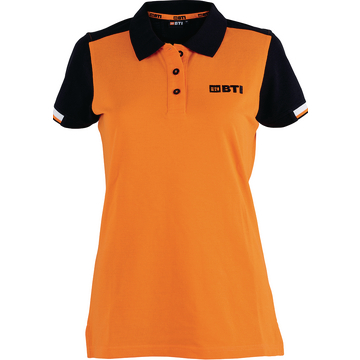 BTI Polo-Shirt Damen, orange, Gr. 5XL