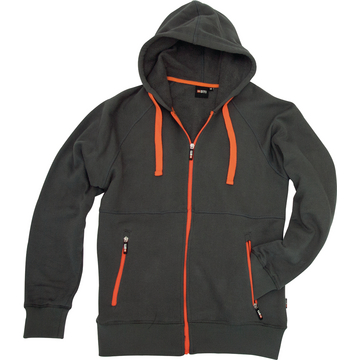 Kapuzenjacke BTI, grau/orange, Gr. 3XL