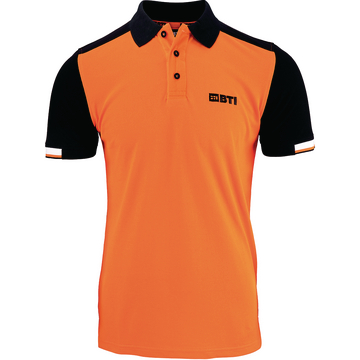 BTI Polo-Shirt Herren, orange, Gr. 5XL