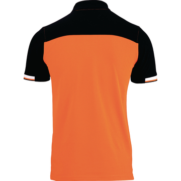 Polo-Shirt BTI Herren orange, Rücken, Rückenansicht