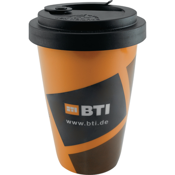 BTI Coffee to Go Becher, orange, 300 ml