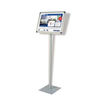 Info-Display,H 730mm,DIN A4quer,Alu,silbereloxiert