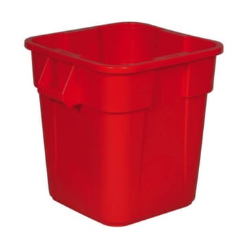 Wertstoff-Container,106l,HxB 580x550mm,eckig,PE,rot