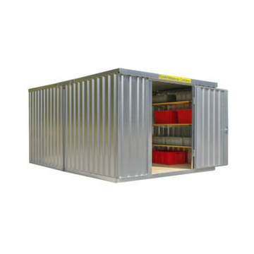Container Kombination,HxLxB 2160x4340x3020mm,2 Module,m. Holzboden