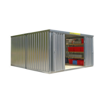 Container Kombination,HxLxB 2160x4340x4050mm,2 Module,m. Holzboden