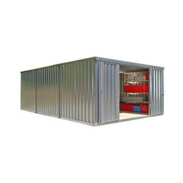 Container Kombination,HxLxB 2160x6510x4050mm,3 Module,m. Holzboden