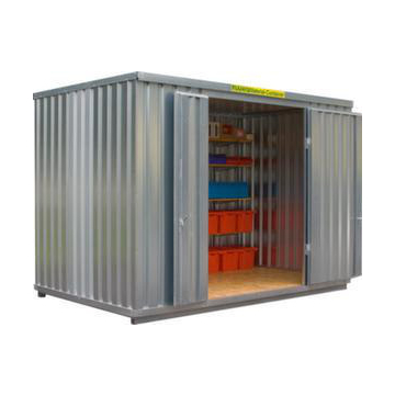 Großraum-Materialcontainer,HxLxB 2532x2170x4050mm,Holzboden