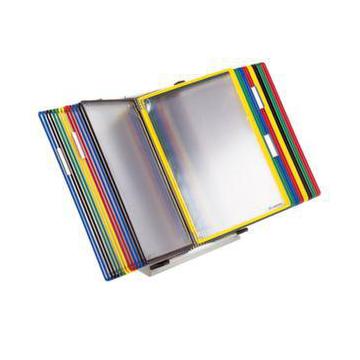 Sichttafel System Tischständer 30 Tafeln Din A4 Farbig Sortiert