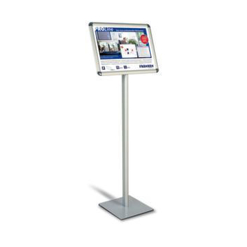 Info-Display,H 1200mm,DIN A3quer,Alu,silbereloxiert