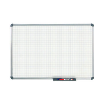 Whiteboard,HxB 900x1200mm,Raster 20x20mm,magnethaft.