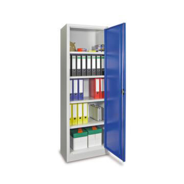 Universalschrank,HxBxT 1950x640x500mm,RAL5010,Front RAL7016