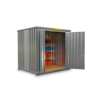 Großraum-Materialcontainer,HxLxB 2595x2540x3020mm,Holzboden