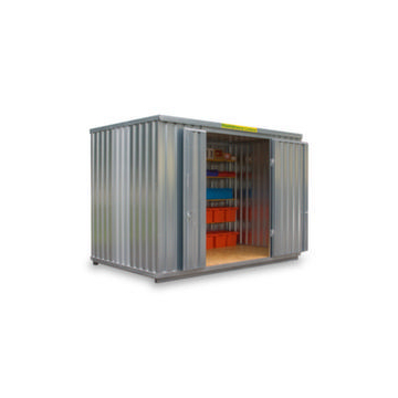 Großraum-Materialcontainer,HxLxB 2595x2540x4050mm,Holzboden